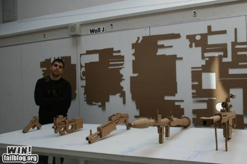 cardboard,design,DIY,guns,nerdgasm,weapons