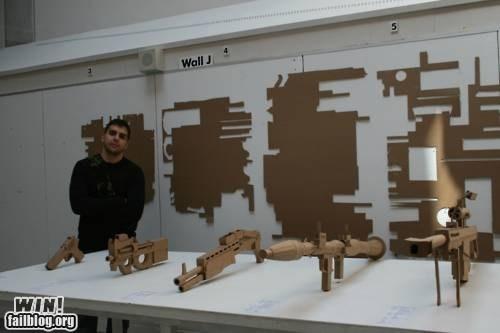 cardboard design DIY guns nerdgasm weapons - 5903152640