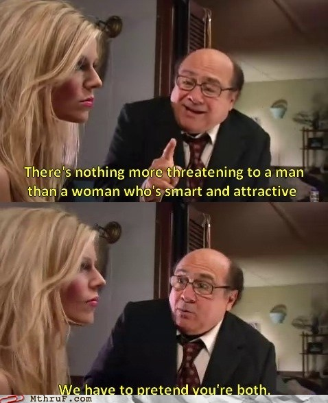 danny devito,smart,woman,women