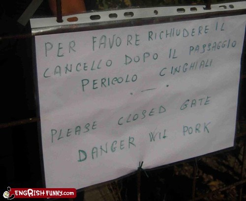 danger,engrish,pork,sign,spanish