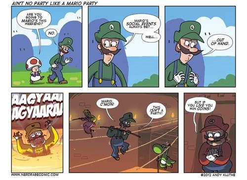 mario,luigi,nerd rage,comics,coins