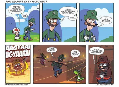 mario luigi nerd rage comics coins - 5903406848