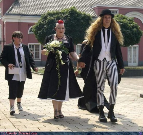 bride,goth,mohawk,wedding