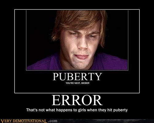 error hilarious justin beiber puberty sad face - 5903425536