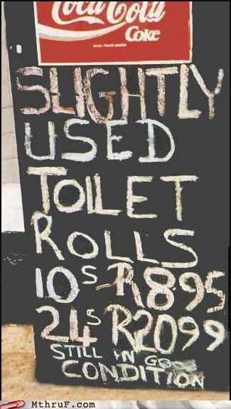sign toilet toilet paper toilet rolls used - 5903518464