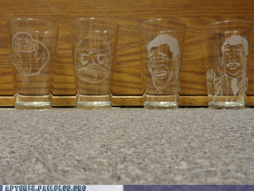 Rage Comics rage faces shot glasses shots - 5903579904