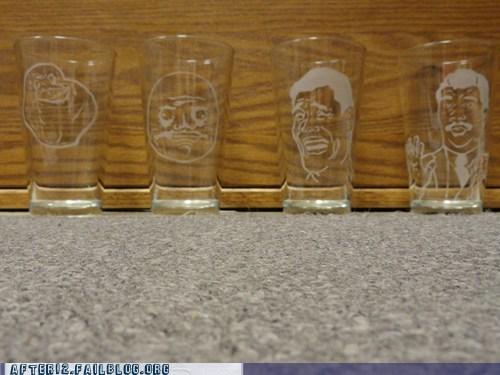 Rage Comics rage faces shot glasses shots - 5903579904