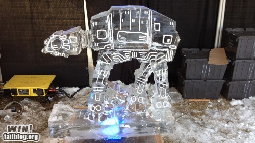 at at,ice,ice sculpture,sculpture,star wars
