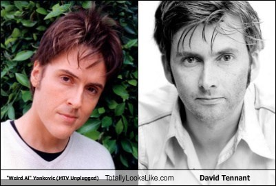actor celeb David Tennant funny Hall of Fame TLL Weird Al Yankovic - 5903918080