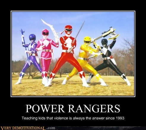 answer,hilarious,kids,power rangers,violence