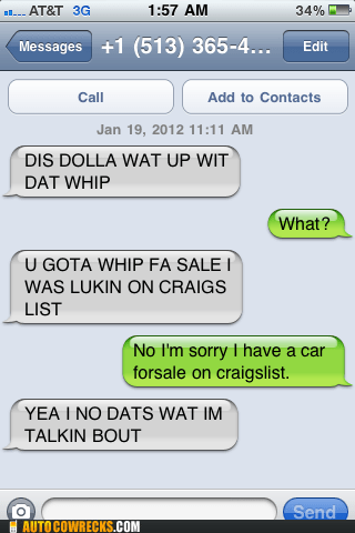 black,car,craigslist,ebonics,ghetto,sale,whip