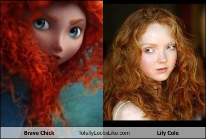 Brave Chick (Merida) Totally Looks Like Lily Cole