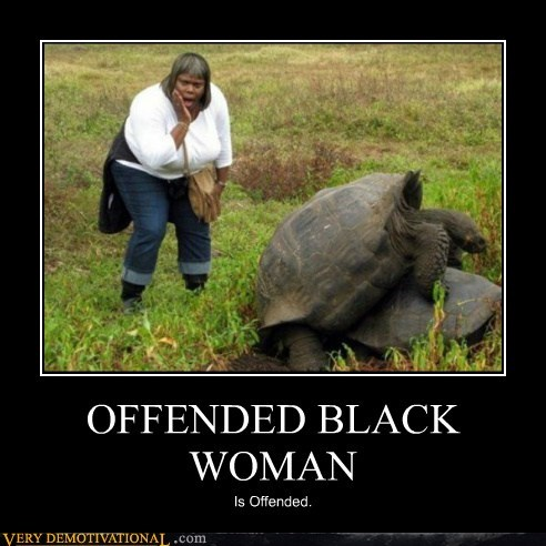 black woman hilarious offended sexy times turtles