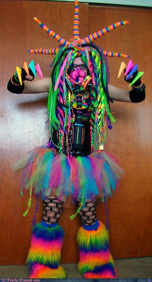 bed g rated monster poorly dressed rave Rave fashion scary - 5905272576