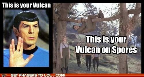 Leonard Nimoy Spock spores Star Trek this is your brain on drugs Vulcan - 5906266624