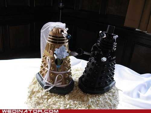 cake toppers,daleks,doctor who,funny wedding photos,Hall of Fame