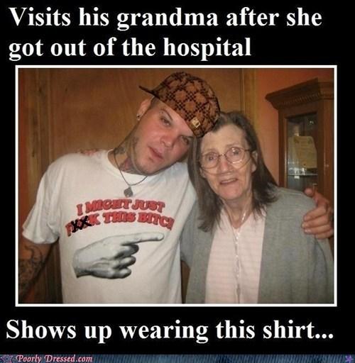 grandma,hospital,scumbag