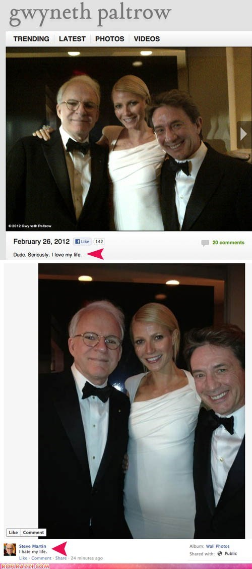 academy awards actor celeb funny gwyneth paltrow Martin Short oscars Steve Martin - 5906603008