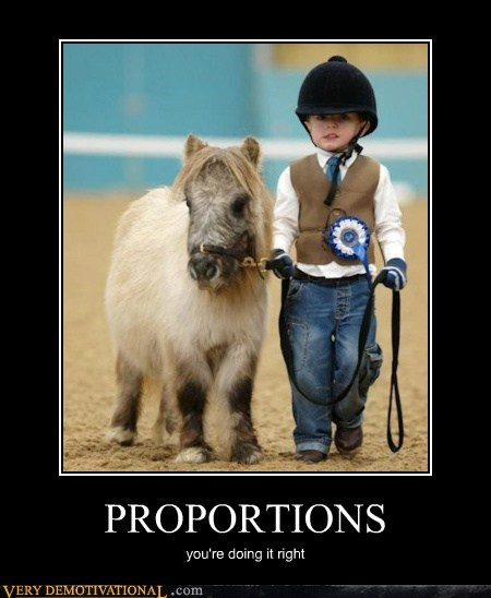 hilarious kid pony proportions wtf
