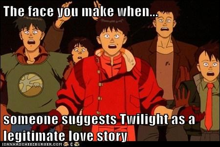 The face you make when... someone suggests Twilight as a legitimate love story
