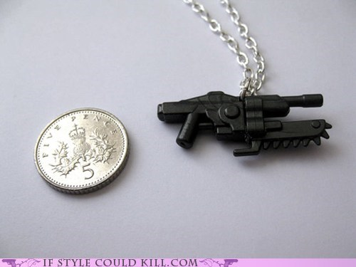 cool accessories,Gears of War,guns,necklaces,video games