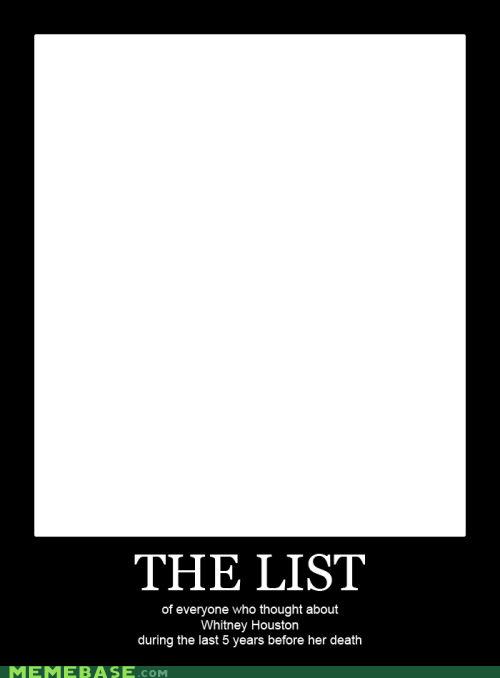 Death list Memes superfan whitney houston - 5906803456