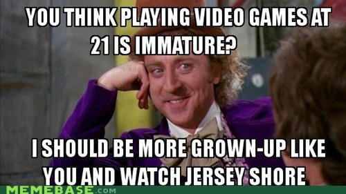 jersey shore,Memes,video games,Willy Wonka