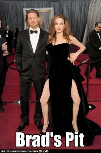 academy awards actor Angelina Jolie brad pitt celeb funny oscars - 5906967296