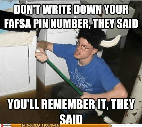 debt fafsa pin paperwork student loans - 5907049472