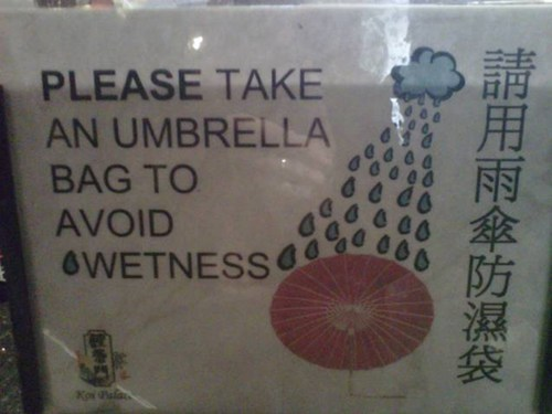 bag engrish Japan japanese umbrella