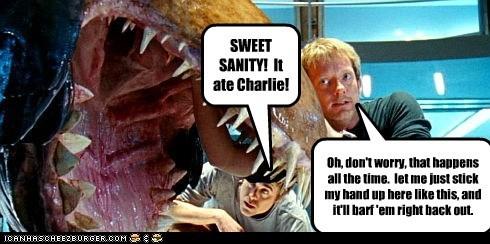 alien barf dentist douglas henshall eating nick cutter plant Primeval - 5907192064