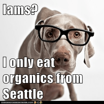 Iams? I only eat organics from Seattle