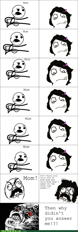 mom mom logic Rage Comics raisin rage yelling