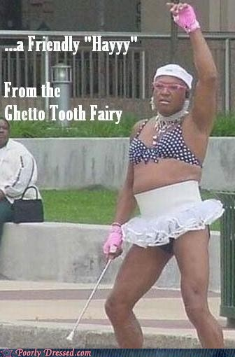 ghetto skirt teeth tooth fairy - 5907276544
