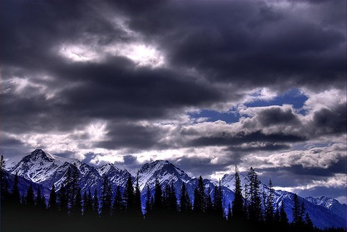 blue Canada clouds getaways gray grey Hall of Fame mountains north america rocky mountains - 5907363840