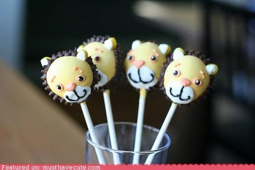 cake pops chocolate epicute face lion smile sticks - 5907404032
