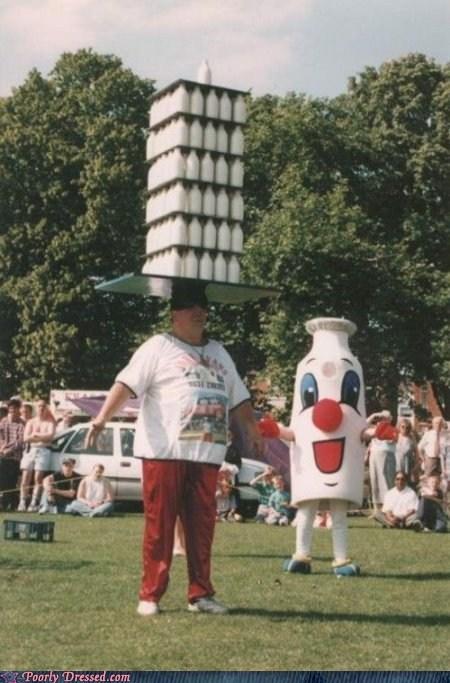 balance balance on head milk milk truck