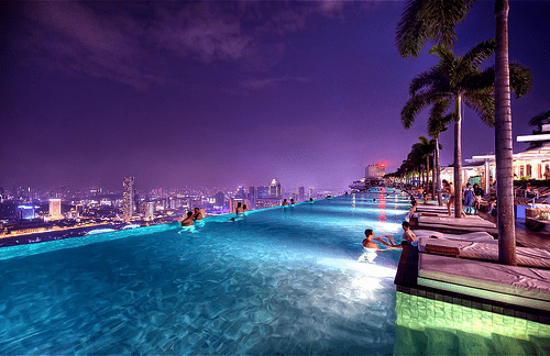 getaways infinity pool night night photography pool swim swimming pool Tropical unknown location - 5907526656