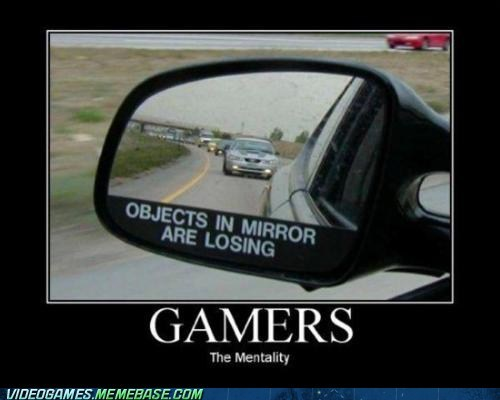 cars,gamers,Hardcore Gamerz,object in mirror,racing,youre-losing