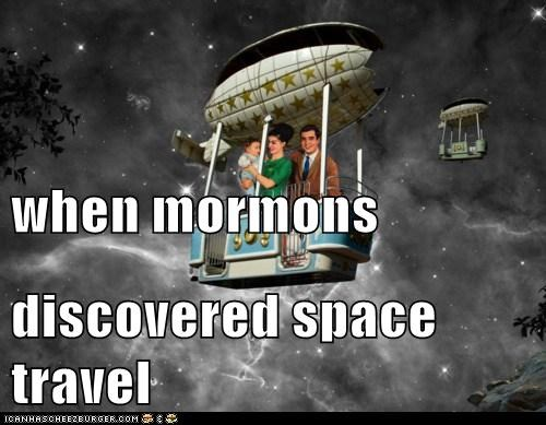 when mormons discovered space travel