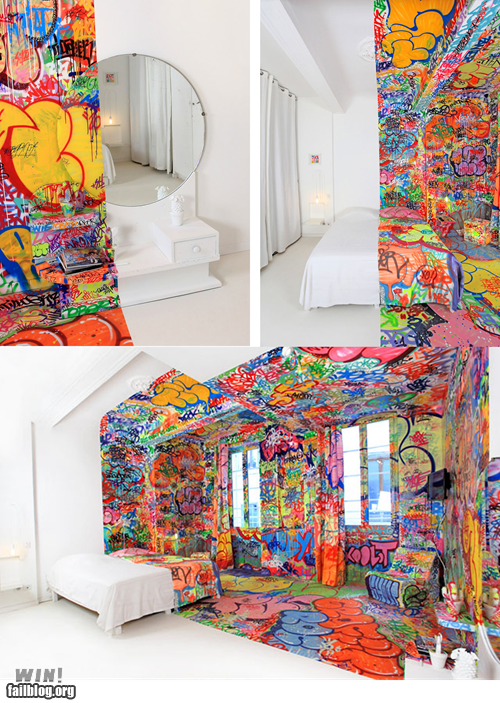 art design graffiti g rated hotel Street Art tag win - 5907944704