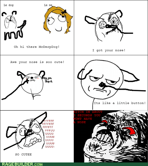 dogs,nose,Rage Comics,raisin rage