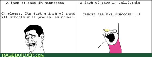 all the things,Rage Comics,snow,snow day