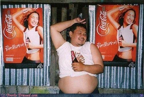 coca cola coke midriff poster thailand - 5908316416