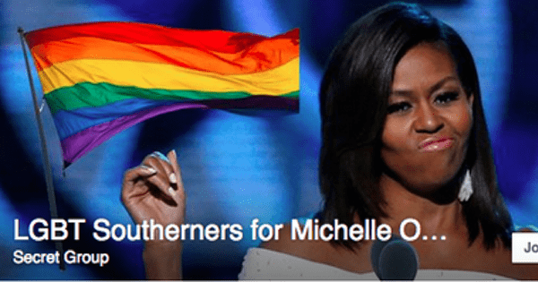 confederate flag list trolling gay rights facebook Michelle Obama facebook group - 590853
