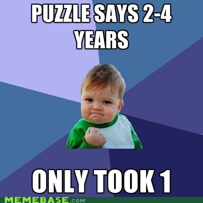 meme madness,pieces,puzzle,success kid,years