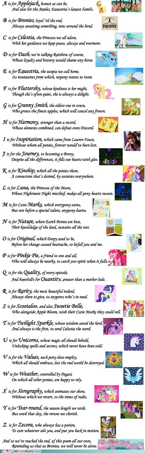 awesome a-z best of week mod loves my little brony poem