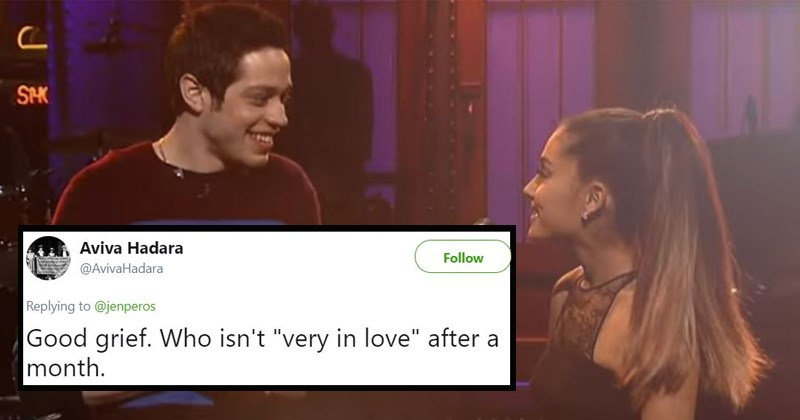 wtf pete davidson Ariana Grande engaged ariana grande and pete davidson dating SNL saturday night live it wont last twitter twitter reacts twitter reactions - 5908741