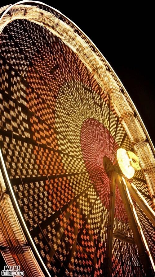 amusement park ferris wheel long exposure photography pretty colors - 5908772608