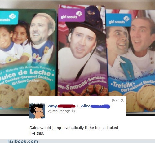girlscout cookies,nicolas cage,photoshop